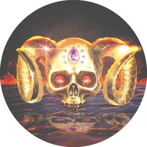 Gold Skull Slipmat