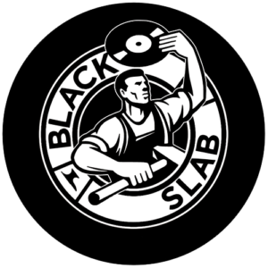 Black Slab – Steel Worker Logo Slipmat