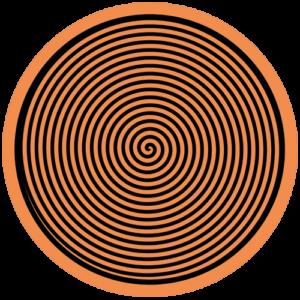 Spiral – Orange / Black Slipmat