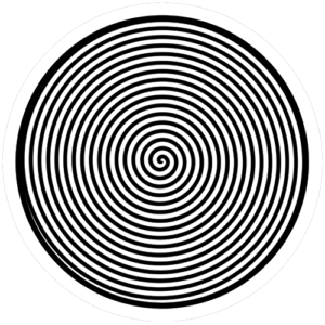 Spiral – White / Black Slipmat