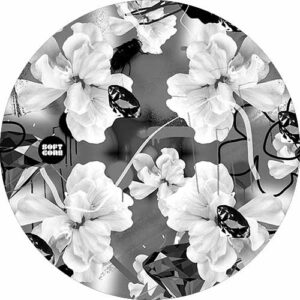 SoftCore Flowers B&W Slipmat