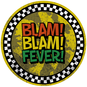 Black Slab BlamBlamFever Yellow Slipmats