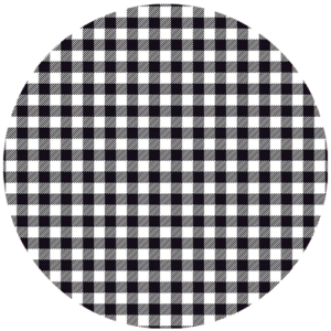 Black Slab Gingham Black Slipmat