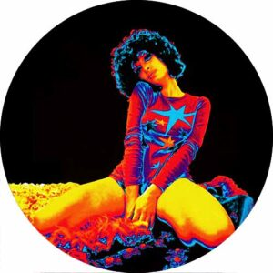 Retro Psychedelic Spliff Girl Slipmat Design 2