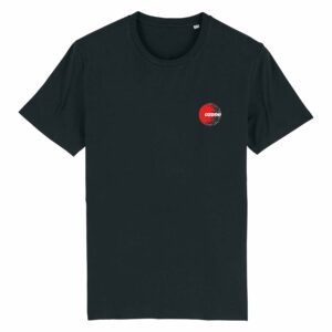 Ozone Recordings Retro Black T-shirt Design 1