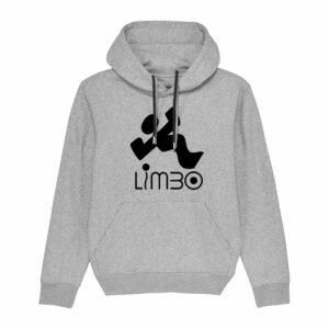 Limbo Records Hoodie Heather Grey 4