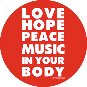 Love Hope Peace Slipmat Red