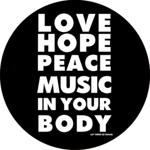 Love Hope Peace Slipmat Black