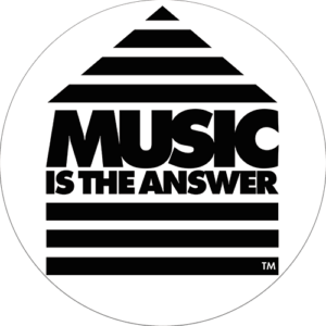 Music Is The Answer Slipmat White