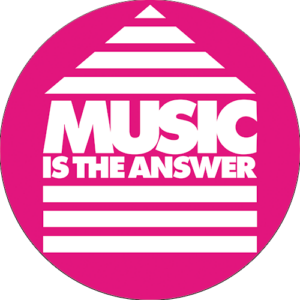 Music Is The Answer Slipmat Pink
