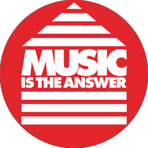 Music Is The Answer Slipmat Red