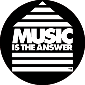 Music Is The Answer Slipmat Black