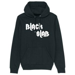 Black Slab Metal Hoodie Black