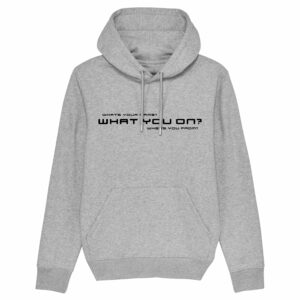 Sound Entity What you on? – Grey Hoodie