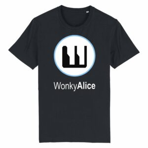 Wonky Alice T-shirt – Blue