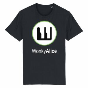 Wonky Alice T-shirt – Green