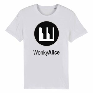 Wonky Alice T-shirt – Grey