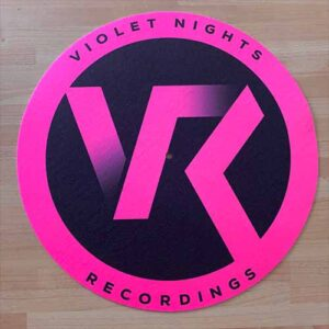 Violet Nights Recordings Slipmat – Fluorescent Pink & Black