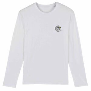Hardcore Vinylists – Small Yellow Logo Long Sleeve T-shirt