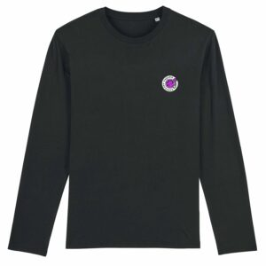 Hardcore Vinylists – Small Pink Logo Long Sleeve T-shirt