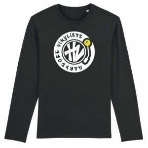 Hardcore Vinylists – Big Yellow Logo Long Sleeve T-shirt