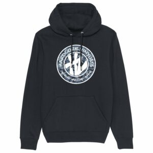 Hardcore Vinylists – Camo Big Front Logo – Black Hoodie