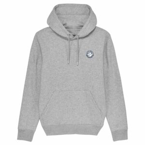 Hardcore Vinylists – Camo Small Front / Big Back Grey Hoodie