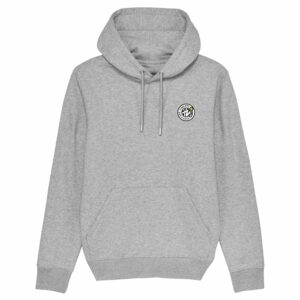 Hardcore Vinylists – Yellow Small Front / Big Back Grey Hoodie