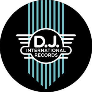DJ International – Main Logo Green on Black Slipmats