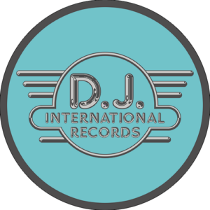 DJ International – Main Logo Grey on Green Slipmats