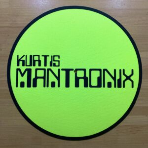 Kurtis Mantronix – Main Logo Fluorescent Yellow Slipmat