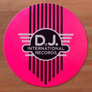 DJ International – Main Logo Fluorescent Pink Slipmats