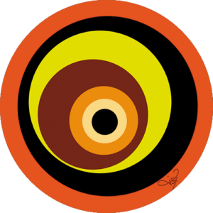 Lisa Dea – Cimple Circle Wild Orange Slipmats