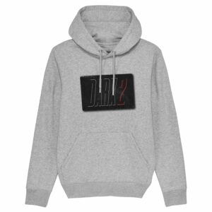 8 zero 8 Productions – Dark 2 Logo Grey Hoodie