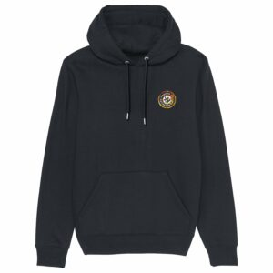 Hardcore Vinylists – Fire  – Black Hoodie Small Logo