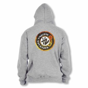 Hardcore Vinylists – Fire Grey Hoodie Small Logo