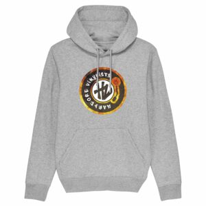 Hardcore Vinylists – Fire Grey Hoodie