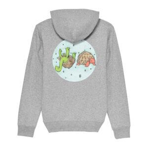 _Gasart_ – Grey Hoodie – Design 2