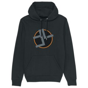 Timeline Music – Black and Orange Hoodie