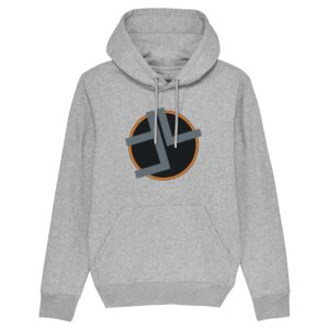 Timeline Music – Grey and Orange Hoodie